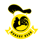 Poussin Plaice Hungry Head logo
